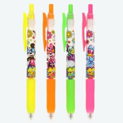 東京ディズニーリゾート ディズニー 通販 ミッキー ミニー ドナルド デイジー サラサ ジェルインク ボールペン 4本セット 4色0.5mm ネオンカラー ギフトラッピング ゼブラ サマー サングラス