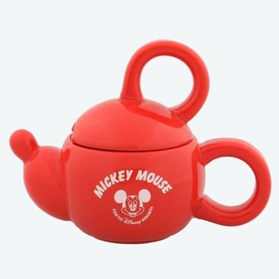 東京ディズニーリゾート ディズニー 通販 ミッキーマウス フェイス シェイプ 蓋付き マグカップ 赤 無料ギフトラッピング TDR ディズニーランド ディズニーシー マグ ミッキー おみやげ お土産