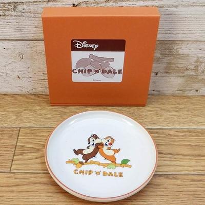 ディズニー 通販 日本製 チップ&デール ケーキプレート デッドストック 新品 無料ギフトラッピング チップ デール ケーキ皿 ギフト お土産 おみやげ チップとデール 再入荷無し