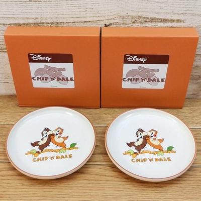 ディズニー 通販 チップ&デール 日本製ケーキプレート お得! 2枚セット デッドストック 新品 無料ギフトラッピング チップ デール ケーキ皿 ギフト お土産 おみやげ チップとデール 再入荷無し