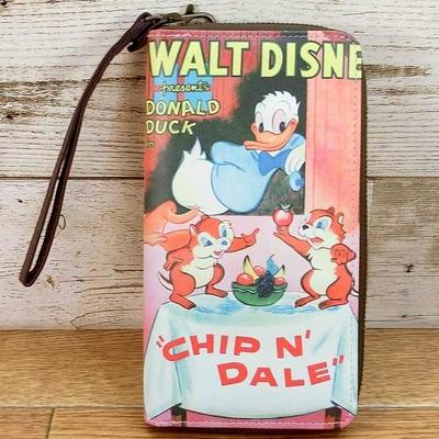 ディズニー 通販 チップ&デール ドナルド ウォレット 長財布 カード入れ付 ストラップ付 無料ギフトラッピング ギフト チップ デール チップとデール お土産 おみやげ