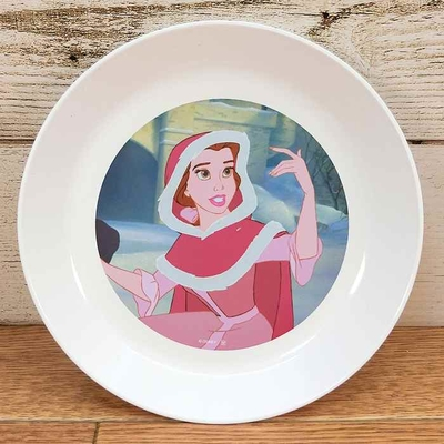 ディズニー 通販 わけあり アウトレット 新品 プリンセス ベル プレート S 16cm 美女と野獣 ランチ プレート 皿 食器 お土産 おみやげ 訳あり