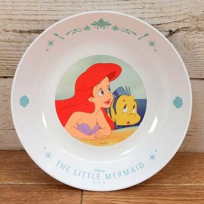 ディズニー 通販 わけあり アウトレット 新品 プリンセス アリエル フランダー プレート M 18cm リトルマーメイド ランチ プレート 皿 食器 お土産 おみやげ 訳あり リトル・マーメイド