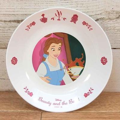 ディズニー 通販 わけあり アウトレット 新品 プリンセス ベル チップ プレート M 18cm 美女と野獣 ランチ プレート 皿 食器 お土産 おみやげ 訳あり
