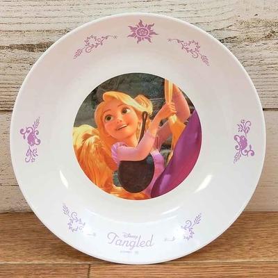 ディズニー 通販 わけあり アウトレット 新品 プリンセス ラプンツェル プレート M 18cm ランチ プレート 皿 食器 お土産 おみやげ 訳あり 塔の上のラプンツェル