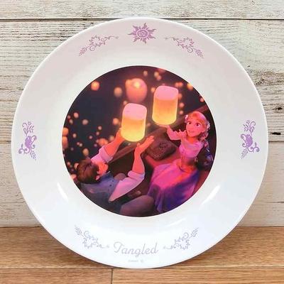ディズニー 通販 わけあり アウトレット 新品 プリンセス ラプンツェル プレート L 22cm ランチ プレート 皿 食器 お土産 おみやげ 訳あり 塔の上のラプンツェル