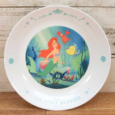 ディズニー 通販 わけあり アウトレット 新品 プリンセス アリエル フランダー プレート L 22cm リトルマーメイド ランチ プレート 皿 食器 お土産 おみやげ 訳あり リトル・マーメイド