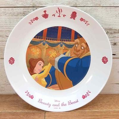 ディズニー 通販 わけあり アウトレット 新品 プリンセス ベル チップ プレート L 22cm 美女と野獣 ランチ プレート 皿 食器 お土産 おみやげ 訳あり
