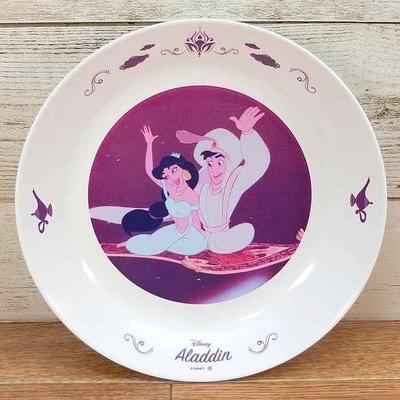 ディズニー 通販 わけあり アウトレット 新品 プリンセス ジャスミン アラジン プレート L 22cm ランチ プレート 皿 食器 お土産 おみやげ 訳あり