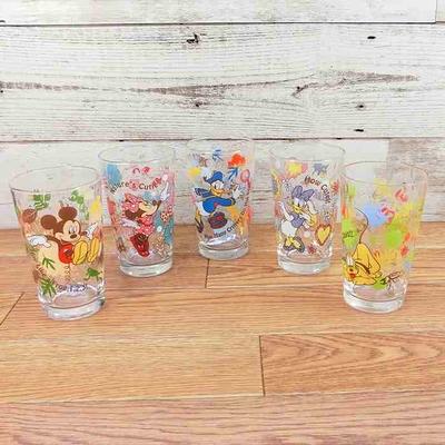 日本製 ディズニー 通販 ビッグ5 グラス 5個セット アウトドア デザイン 無料ギフトラッピング ミッキー ミニー ドナルド デイドー プルート コップ タンブラー デッドストック