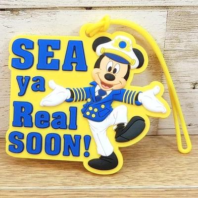 ディズニー クルーズライン 限定 キャプテン ミッキーマウス SEA ya Real SOON! ネームタグ ラゲージタグ 通販 無料ギフトラッピング DCL ラゲッジタグ ミッキー フロリダ