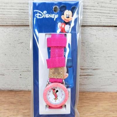 送料無料 【アウトレット】ディズニー 通販 腕時計 ミニーマウス キッズ 用 合皮バンド 無料ギフトラッピング  ミニー おみやげ 土産 ウォッチ 女子 子ども