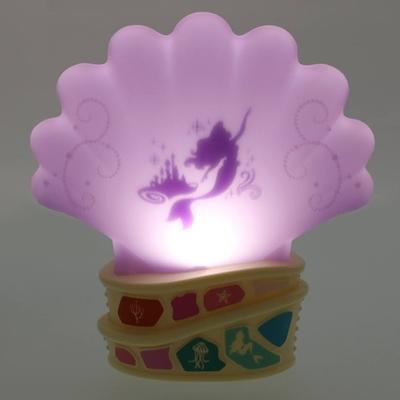 東京ディズニーリゾート ディズニー 通販  マイ・フェイバリット キャラクター リトルマーメイド アリエル シェル型 電池式 ルームライト 無料ギフトラッピング  ディズニーシー フットランプ