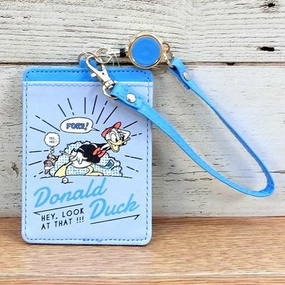 ディズニー 通販 ドナルドダック ブルー リール付き IC カードケース パスケース 定期入れ 無料ギフトラッピング ドナルド ギフト お土産 おみやげ スイカ パスモ