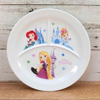 【送料無料】ディズニー 通販 わけあり アウトレット プリンセス ランチプレート 陶器 ランチ プレート 皿 食器 お土産 おみやげ 訳あり箱無 アリエル シンデレラ ラプンツェル