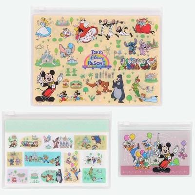 東京ディズニーリゾート The Tokyo Disney Resort シリーズ ディズニー 通販 オールキャラクター スライド ジップケース 3個セット 無料 ギフトラッピング ジップバッグ