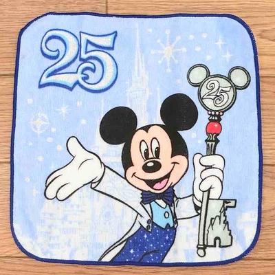 【わけあり】 1点のみ 新品 東京ディズニーランド ディズニー 通販 25周年 ミニ タオル ミッキー ミニー ドナルド 3枚 無料ギフトラッピング リゾート シー おみやげ お土産 アウトレット