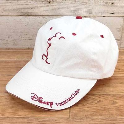 ディズニー バケーションクラブ 限定 メンバー キャップ ホワイト 新品 無料ギフトラッピング おみやげ お土産 ミッキー 帽子 野球帽 大人用 フリーサイズ