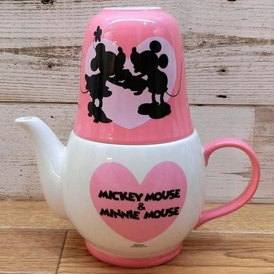 ディズニー 通販 わけあり アウトレット ミッキーマウス ミニーマウス ティーフォーツー ミッキー ミニー ティーポット 茶器 陶器 急須 マグカップ お土産 おみやげ 訳あり マグ お茶 茶こし付き