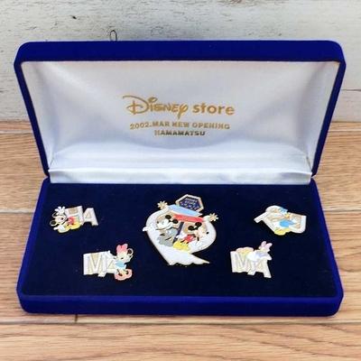 ディズニーストア ディズニー 通販 浜松店 2002年 3月 ニュー オープニング 限定 ピンバッジ 5個セット LE800 宝石箱入り 超レア 1点のみ