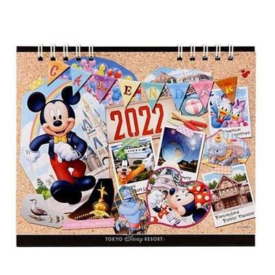 【予約商品 8/18発売】 東京ディズニーリゾート ディズニー 通販 卓上 カレンダー ミッキー&フレンズ 2022年 無料ギフトラッピング ミッキーマウス ミニーマウス ドナルドランド シー お土産
