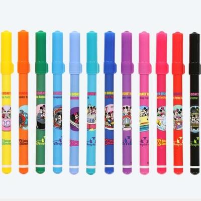 東京ディズニーリゾート ディズニー 通販 レトロ パークシーン カラー サインペン 12本セット 無料 ギフトラッピング TDR おみやげ お土産 ディズニーランド ディズニーシー ミッキーマウス ミ