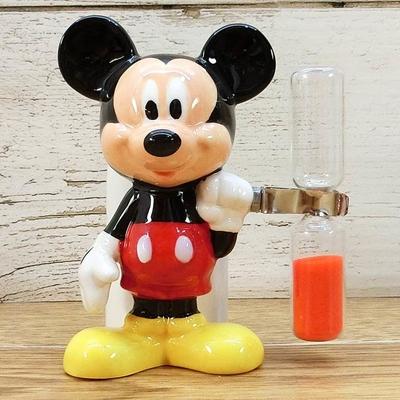 ディズニー通販 ミッキーマウス ハブラシスタンド 3分間 砂時計付き 無料ギフトラッピング 歯ブラシスタンド ギフト お土産 おみやげ