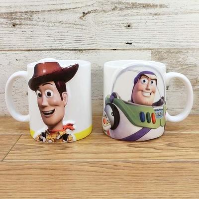 ディズニー 通販 わけあり アウトレット トイストーリー ウッディ バズ ペアマグ 無料ギフトラッピング  トイ・ストーリー バズライトイヤー 陶器 マグカップ マグ コーヒーギフト 土産 おみやげ