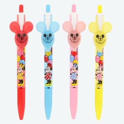 東京ディズニーリゾート ディズニー 通販 ミッキーマウス ミニーマウス バルーン ボールペン 4本セット 無料 ギフトラッピング 土産 TDR ディズニーランド ディズニーシーミッキー ミニー