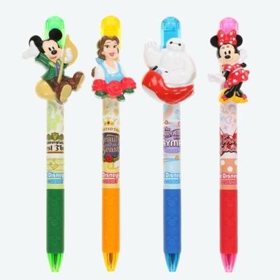 東京ディズニーリゾート ディズニー 通販 立体マスコット ボールペン 4本セット 無料 ギフトラッピング TDR お土産 ランド シー ミッキーマウス ミニーマウス 美女と野獣 ベイマックス