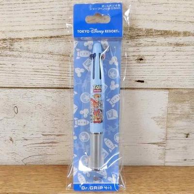 東京ディズニーリゾート ディズニー トイストーリー ドクターグリップ 油性ボールペン 0.5mm 多機能ペン 黒 赤 青 緑 4色+シャープペン 無料ギフトラッピング ランド シー パイロット お土産