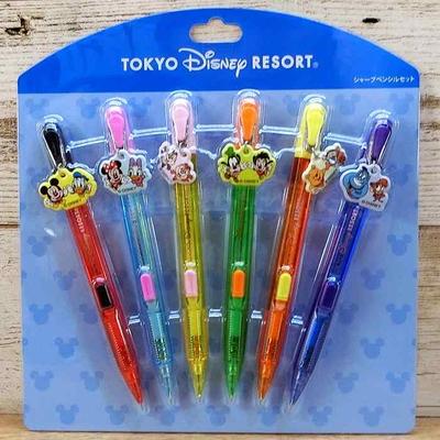 東京ディズニーリゾート ディズニー 12キャラクター サイドノック シャープペン6本セット 0.5mm 無料ギフトラッピング TDR ディズニーランド ディズニーシー お土産