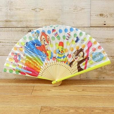 東京ディズニーリゾート ディズニー ディズニー夏祭り 2018 35周年 扇子 チップ&デール 無料ギフトラッピング ディズニーランド ディズニーシー せんす うちわ ファン チップとデール お土産