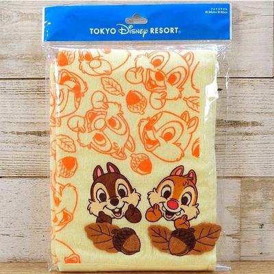 東京ディズニーリゾート ディズニー チップ&デール 刺繍 フェイスタオル 無料ギフトラッピング TDR ディズニーランド ディズニーシー チップ デール チップとデール おみやげ お土産 どんぐり