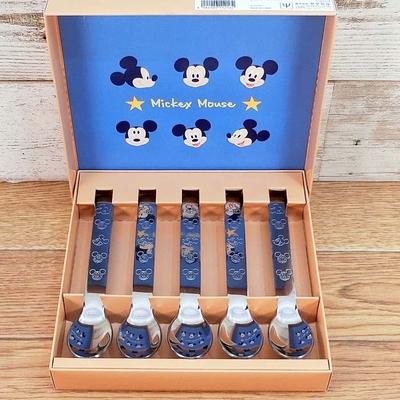 ディズニー 通販 ミッキーマウス オールステン スプーン 5本セット 無料ギフトラッピング ミッキー おみやげ お土産 カトラリー 新品 デッドストック 再入荷なし!