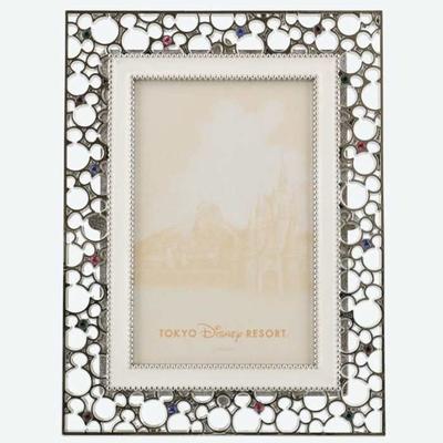 東京ディズニーリゾート ディズニー 通販 ミッキーマウス シェイプ ミツマル フォトスタンド 無料ギフトラッピング フォトフレーム TDR ディズニーランド ディズニーシー ミッキー お土産 写真立て