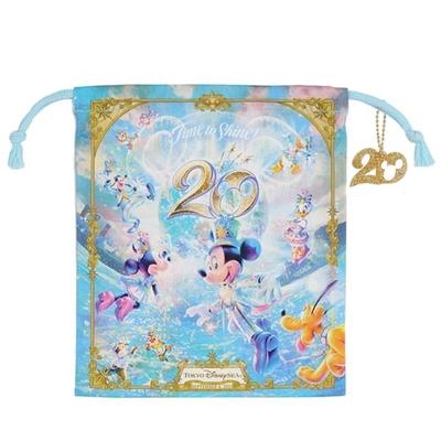 【9/3発売予定】 東京ディズニーシー ディズニー 通販  20周年  タイム・トゥ・シャイン きんちゃく 無料ギフトラッピング TDS ディズニーランド ディズニーリゾート 巾着 キンチャク