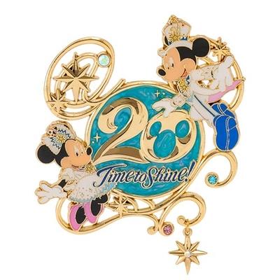 【9/3発売予定】 東京ディズニーシー ディズニー 通販  20周年  タイム・トゥ・シャイン ピン バッジ ミッキーマウス 無料ギフトラッピング TDS ランド リゾート ミッキー ピンバッチ