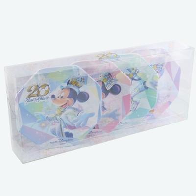 【9/3発売予定】 東京ディズニーシー ディズニー 通販  20周年  タイム・トゥ・シャイン  プレート 4枚セット 無料ギフトラッピング TDS ランド リゾート ケーキ皿 ケーキプレート