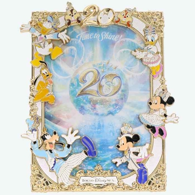 【9/3発売予定】 東京ディズニーシー ディズニー 通販  20周年  タイム・トゥ・シャイン フォトフレーム 無料ギフトラッピング TDS ディズニーランド リゾート 写真立て サービス版