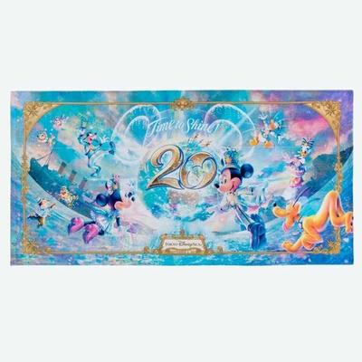 【9/3発売予定】 東京ディズニーシー ディズニー 通販  20周年  タイム・トゥ・シャイン バスタオル 無料ギフトラッピング TDS ディズニーランド リゾート タオル