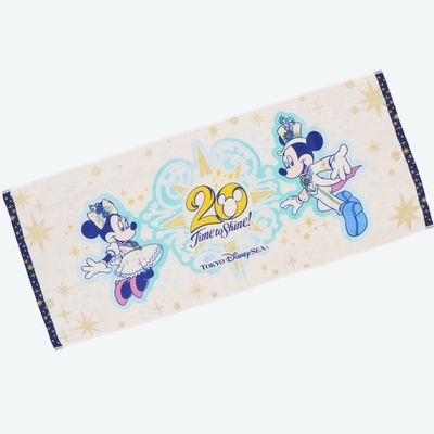 【9/3発売予定】 東京ディズニーシー ディズニー 通販  20周年  タイム・トゥ・シャイン フェイスタオル 無料ギフトラッピング TDS ディズニーランド リゾート タオル