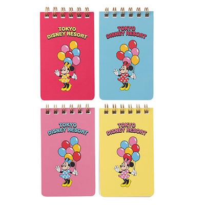 東京ディズニーリゾート ディズニー 通販  バルーンシリーズ メモ 4個セット 無料ギフトラッピング TDR ディズニーランド ディズニーシー メモ帳
