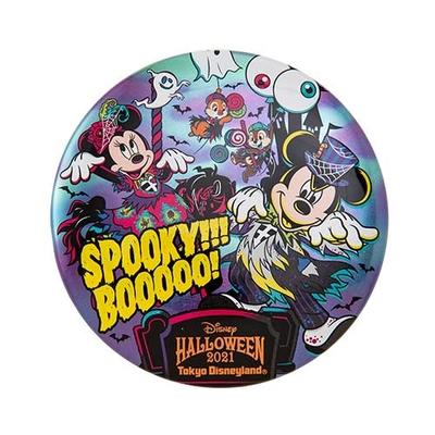 """東京ディズニーランド ディズニー ハロウィーン スプーキー""""Boo!"""" 2021 カンバッジ 無料ギフトラッピング ハロウィン TDR ディズニーシー ディズニーリゾート お土産  カンバッチ"""