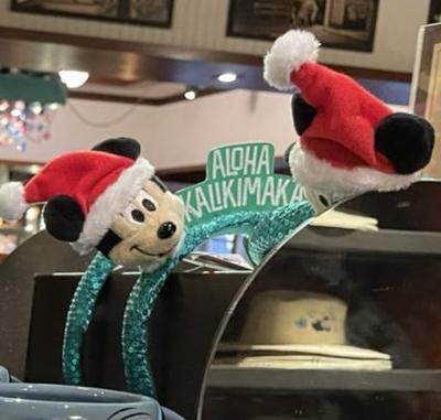 2021年10月超最新入荷!ハワイ直輸入! アウラニ ディズニーリゾート ディズニー ミッキーマウス ミニーマウス メレカリキマカ クリスマス カチューシャ 無料ギフト ラッピング ミッキー ミニー
