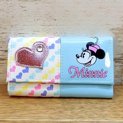 ディズニー 通販 ハート ミニーマウス 6連 キーケース キーホルダー ブルー 日本製 無料ギフトラッピング ミニー ギフト お土産 おみやげ