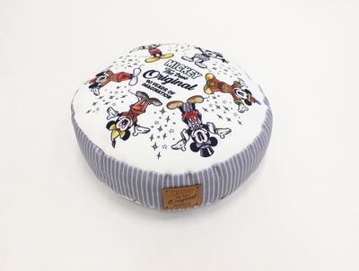 ディズニー 通販 ミッキーマウス ミニーマウス 90周年 限定 トゥルーオリジナル ラウンド クッション 無料ギフトラッピング おみやげ お土産 円形 丸型 MM90