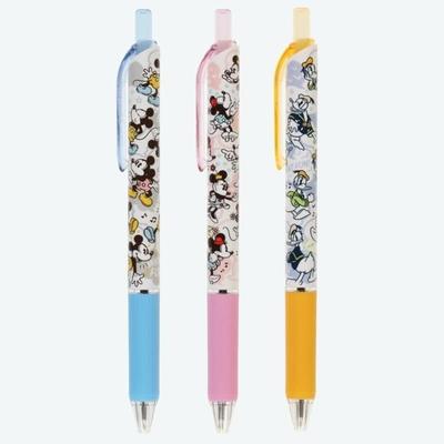 東京ディズニーリゾート ディズニー 通販 低粘度 ボールペン セット  ボールペン3本セット インク:黒 0.5mm【日本製】 無料ギフトラッピング ミッキーマウス ミニーマウス ドナルドダック