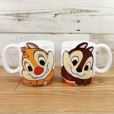ディズニー わけあり アウトレット チップ&デール ラブペアマグ 無料ギフトラッピング  チップ デール チップとデール 陶器 マグカップ マグ コーヒーカップ ギフト お土産 おみやげ 国内正規メー