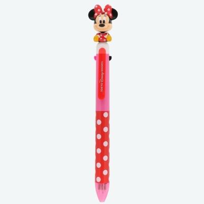 東京ディズニーリゾート ディズニー 通販 ミニーマウス マスコット ボールペン 0.5mm 多機能ペン 黒 赤 青 3色+シャープペン 無料ギフトラッピング  おみやげ お土産 ボビンヘッド